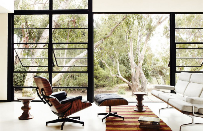 Eames_Walnut_Stools___Eames_Lounge_Chair.jpg